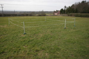 8m by 8m  5 Post Enclosure with 'Gate'